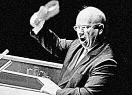 krushchev with shoe